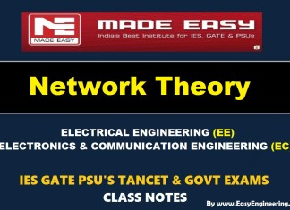 NETWORK THEORY Handwritten EasyEngineering Team IES GATE PSU's TNPSC TRB TANCET SSC JE AE AEE & GOVT EXAMS Study Materials