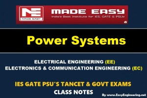 POWER SYSTEM Handwritten EasyEngineering Team IES GATE PSU's TNPSC TRB TANCET SSC JE AE AEE & GOVT EXAMS Study Materials