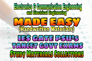 Handwritten EasyEngineering Team IES GATE PSU's TNPSC TRB TANCET SSC JE AE AEE & GOVT EXAMS Study Materials