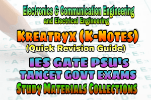Kreatryx (K-Notes) IES GATE PSU's TNPSC TRB TANCET SSC & GOVT EXAMS Study Materials