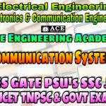 COMMUNICATION SYSTEMSACE Engineering Academy IES GATE PSU's TNPSC TANCET & GOVT EXAMS Study Materials