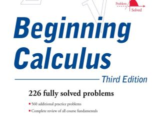 Schaum's Outline of Beginning Calculus By Elliott Mendelson