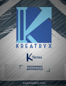 Engineering Mathematics Kreatryx Study Materials for GATE IES PSUs & Other Competitive Exams