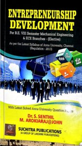 Entrepreneurship Development By Dr. S. Senthil (Local Author)