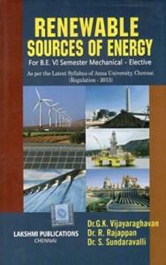 Renewable Sources Of Energy (Local Author) By Dr. G. K. Vijayaraghavan, Dr. R. Rajappan, Dr. S. Sundaravalli