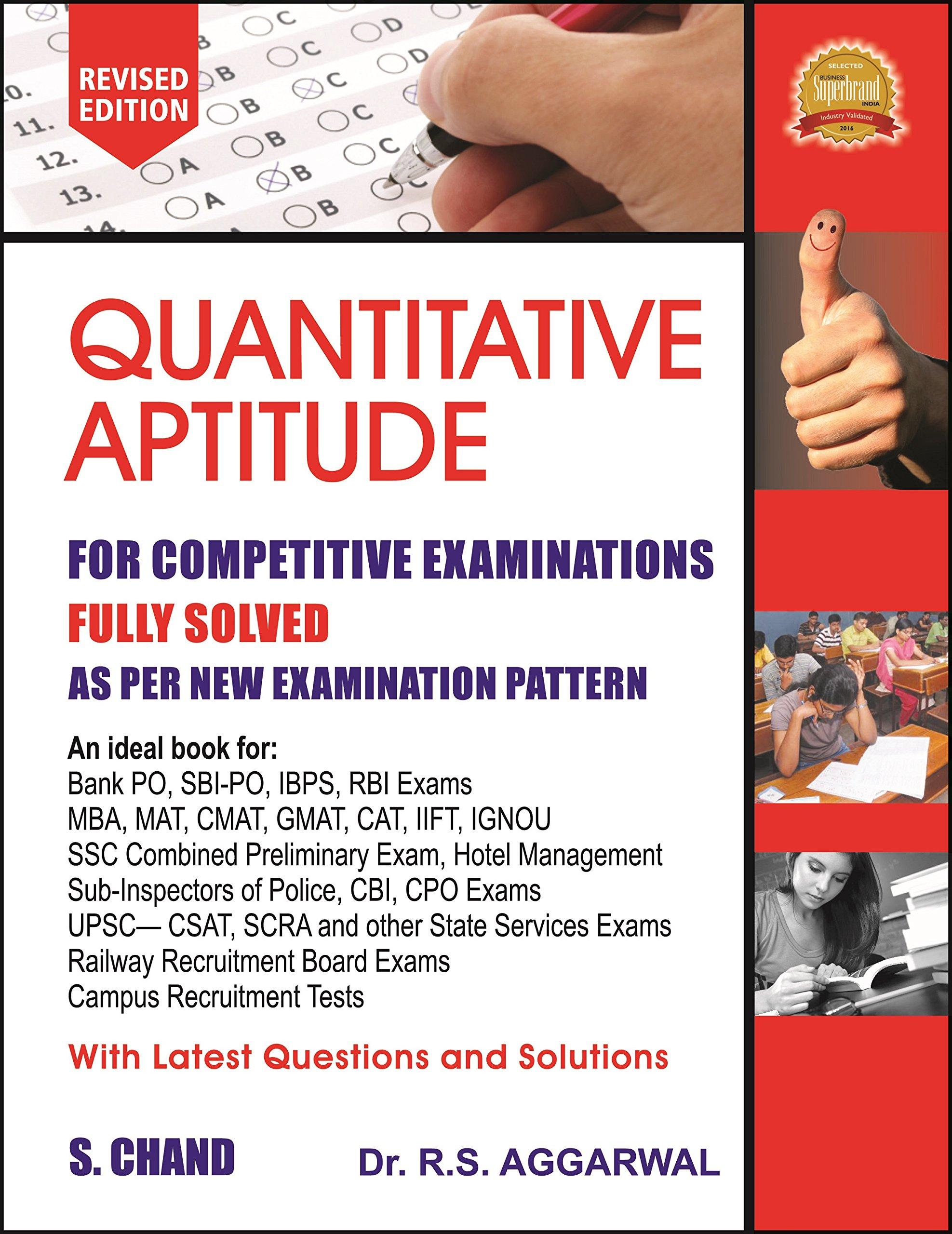 PDF] Quantitative Aptitude for Competitive Examinations By R S