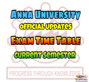 Pdf Anna University Exams Time Table For Nov Dec 2018 Ugpg