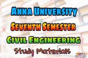 PDF] Anna University Civil Engineering Seventh Semester