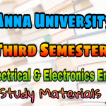 Anna University Electrical and Electronic Engineering Third Semester