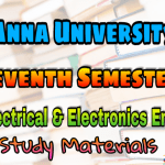 Anna University Electrical and Electronic Engineering Seventh Semester