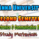 Anna University Electronics and Communication Engineering Second Semester