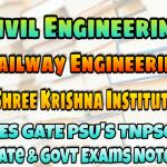 Sri Krishna Institute Railway Engineering Handwritten Classroom Notes
