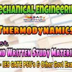 Thermodynamics Handwritten Study Materials for IES GATE PSU's TNPSC & Other GOVT Exams