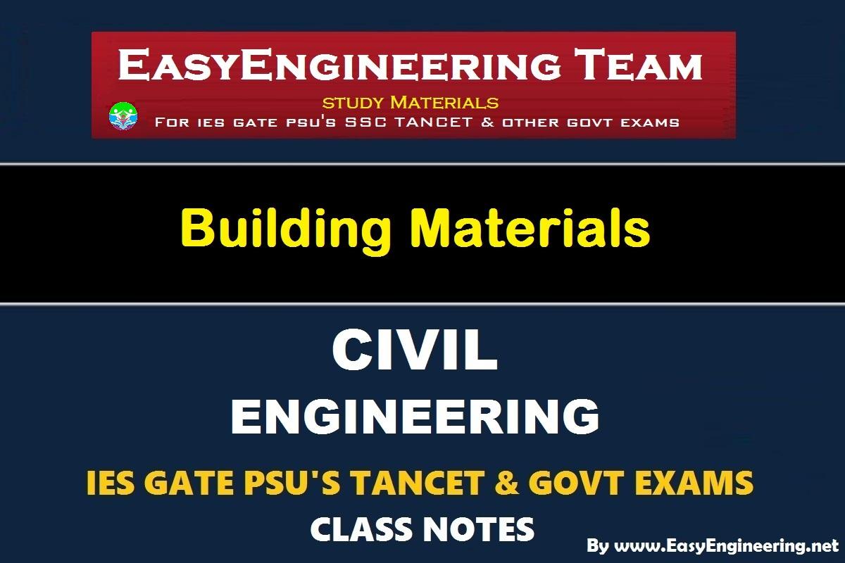 EasyEngineering Team Building Materials GATE IES TANCET & GOVT Exams Handwritten Classroom Notes