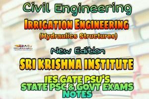 Sri Krishna Institute Irrigation Engineering & Hydraulic Structures Handwritten Classroom Notes