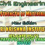Sri Krishna Institute Strength of Materials Handwritten Classroom Notes