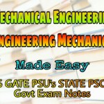 Made Easy Engineering Mechanics Handwritten Classroom Notes