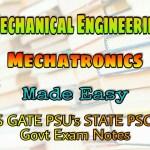Made Easy Mechatronics Handwritten Classroom Notes