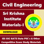 Sri Krishna Institute Study Materials (Edition – I)