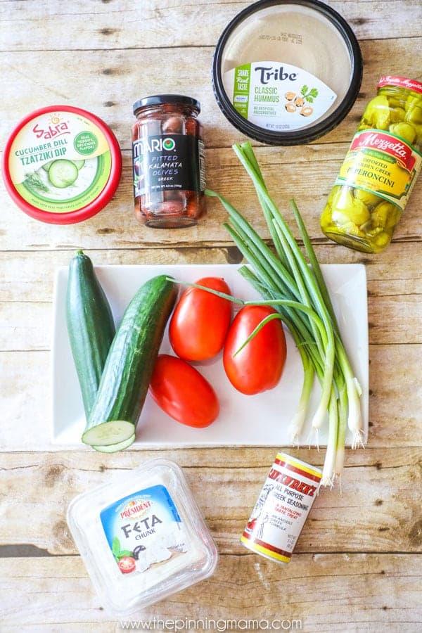 Greek Layer Dip Ingredients
