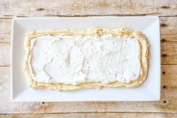 How to make Greek Layer Dip Step 1