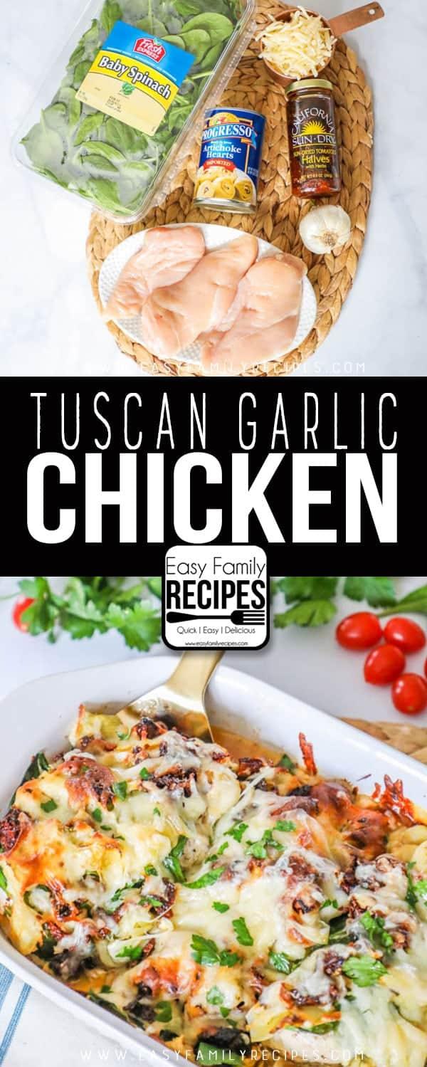 Tuscan Garlic Chicken- This is my FAVORITE dinner!