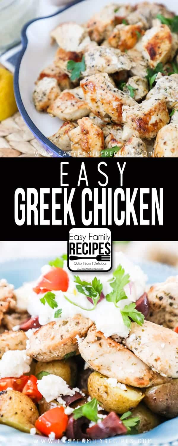 Easy Greek Chicken is delicious and an easy weeknight recipe