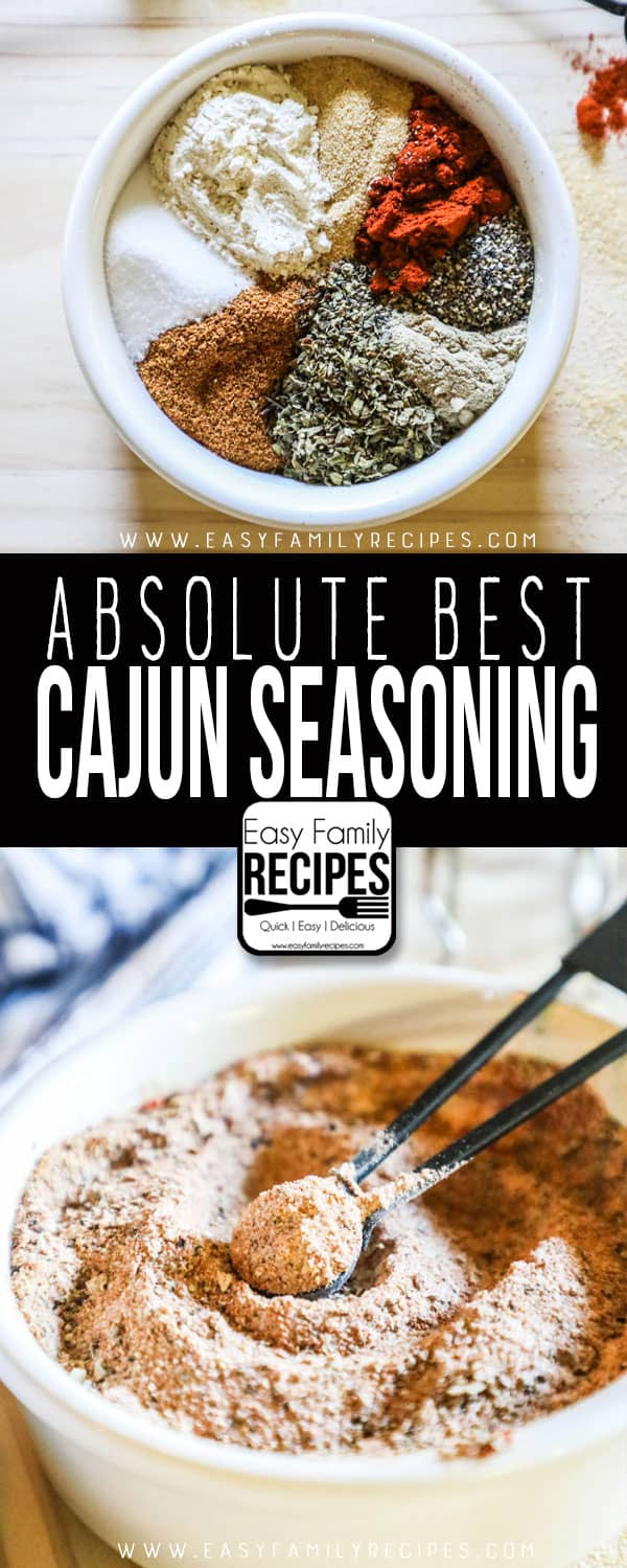 Spices combined to make the BEST Cajun Seasoning.