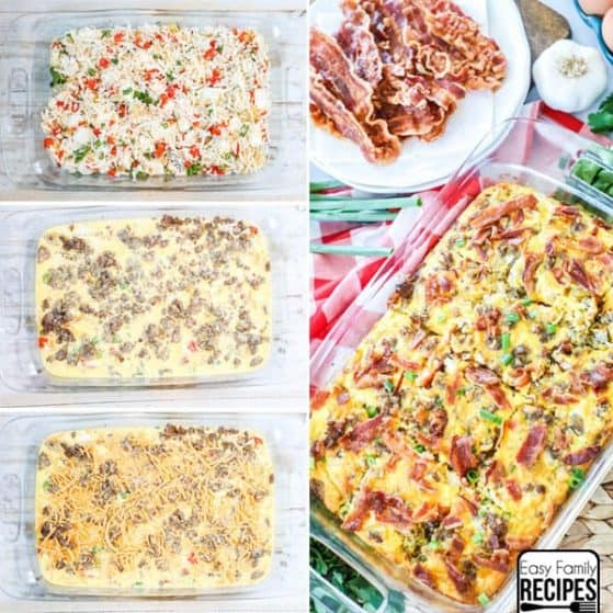 Try this delicious Hashbrown sausage breakfast casserole. It is a crowd pleaser and loaded with flavor.
