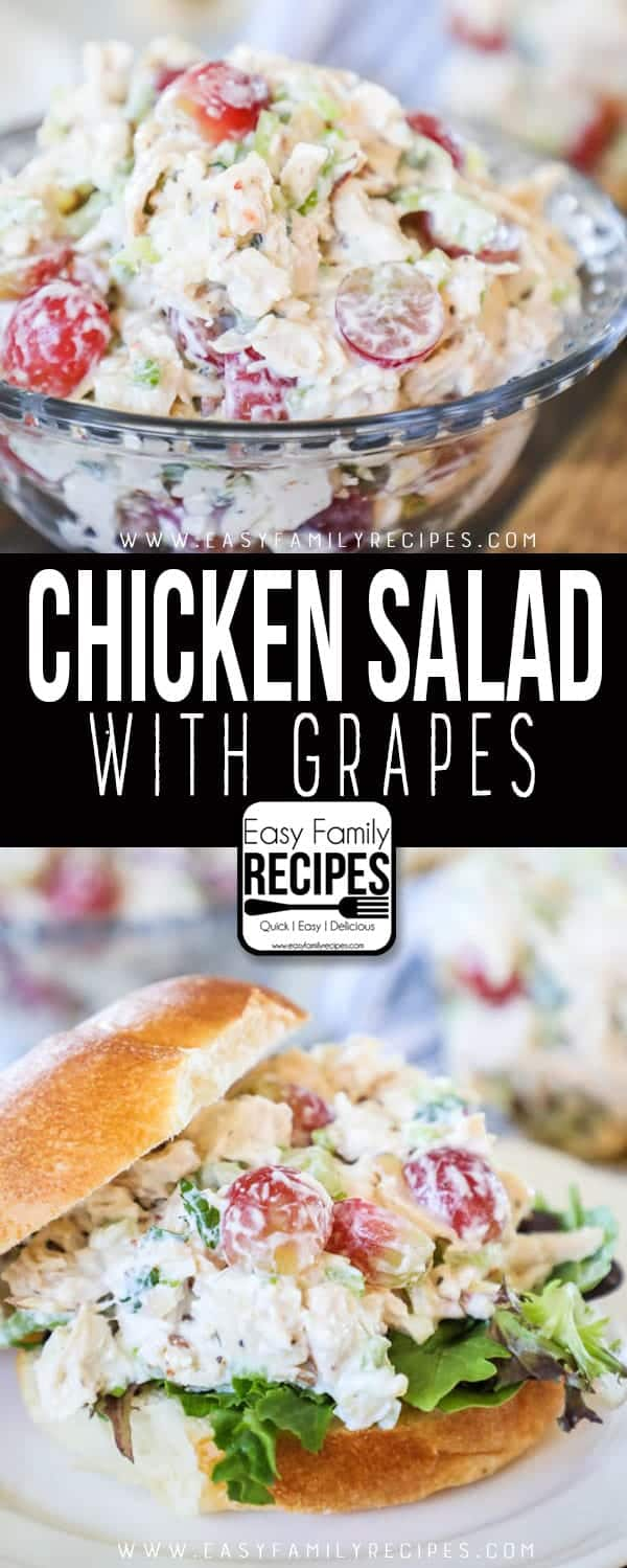 Chicken salad with grapes is a perfect chicken salad, loaded with flavors.