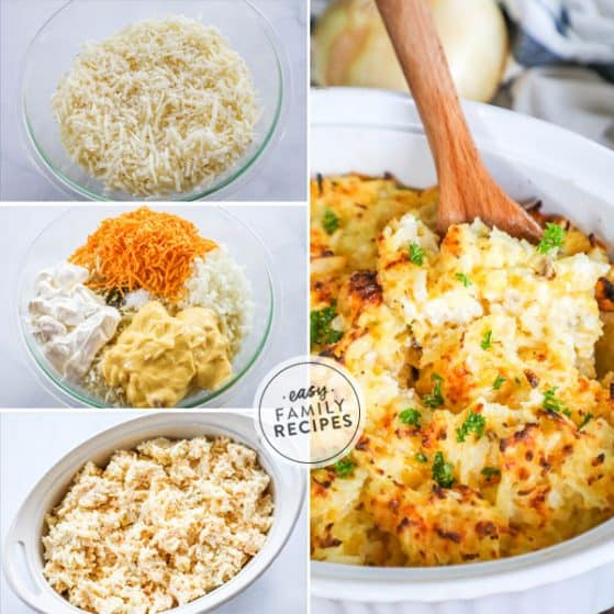 Steps to Making Hashbrown Casserole like Cracker Barrel