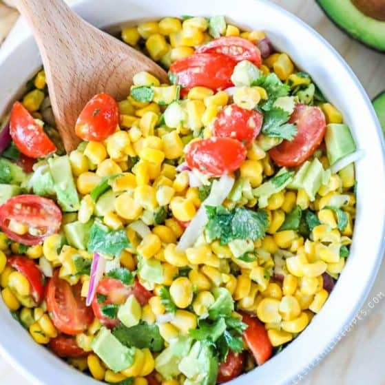 Recipe for Mexican Corn Salad.