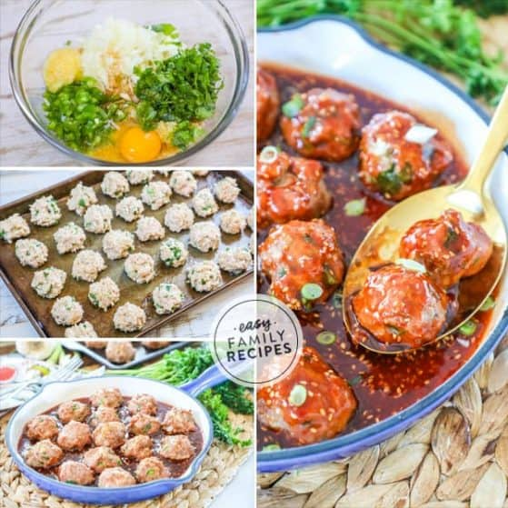 Asian Turkey Meatballs are a crowd pleasure and loaded with delicious flavors.