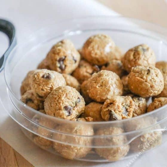 Recipe for Peanut Butter Energy Balls.