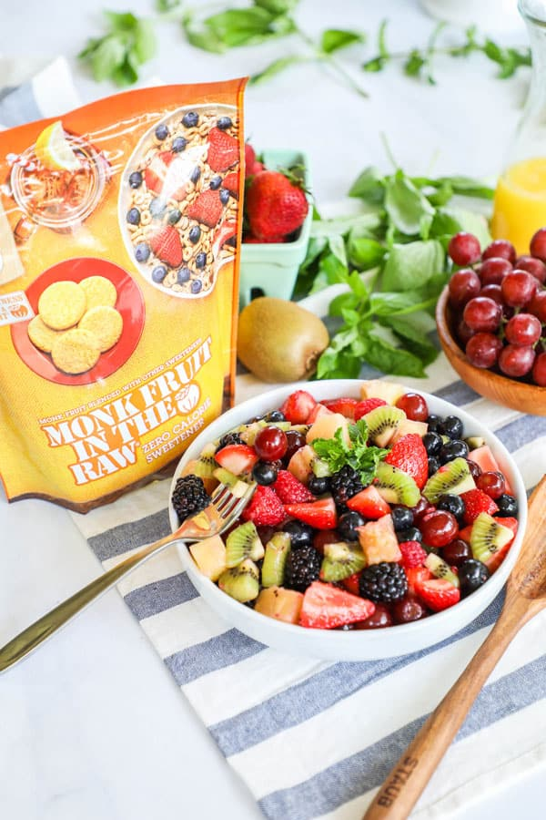 Fruit Salad made with Monk Fruit in the Raw