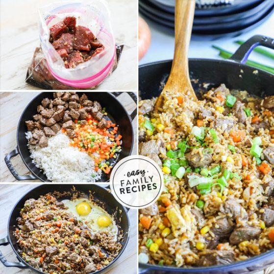 Step by Step Steak Fried Rice