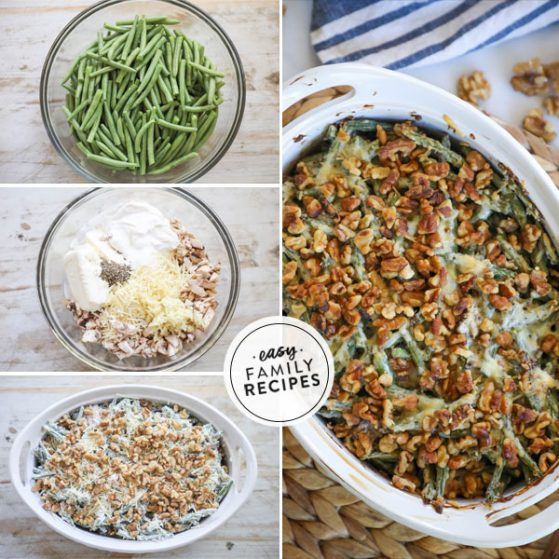 Steps for making Gluten Free Green Bean Casserole