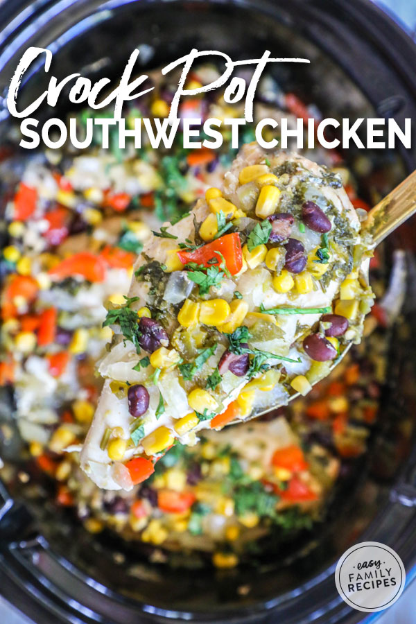 Southwest Chicken in a slow cooker