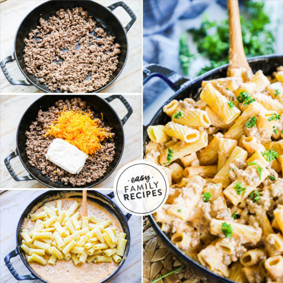 Steps to make Easy Cheeseburger Pasta