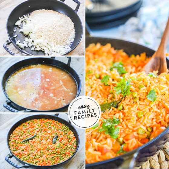 Steps to make Mexican rice the easy way