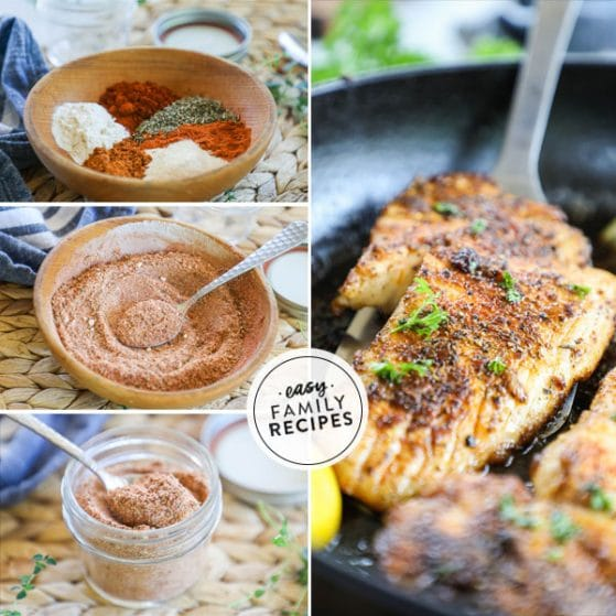 step by step for making seasoning mix for blackened fish