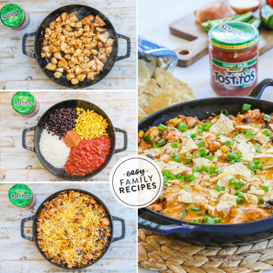 Step by step for making Chicken Burrito Skillet