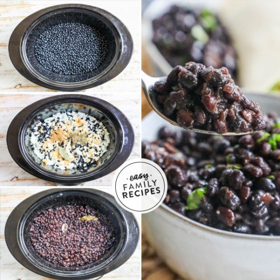Step by step for making black beans in crockpot