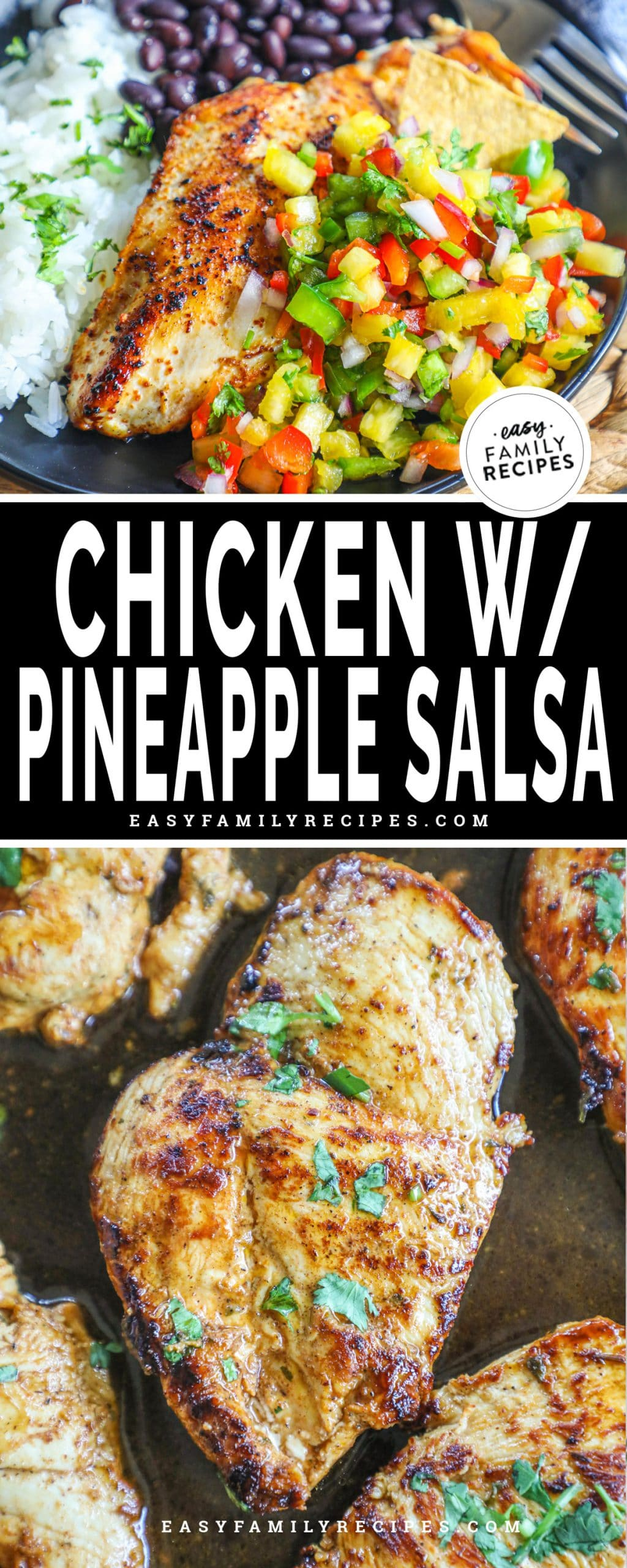 Southwest Chicken breast topped with pineapple salsa