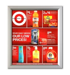 Easy Slide in Frames, School Poster Frames, Corporate Sign Frames, Advertising Poster Frames