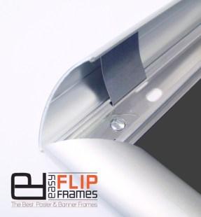 Round Profile Snap Frames, Security Snap Frames, Safe Poster Frames