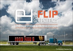 Iron Man 3 - Trailer Truck Aluminum Billboard flip Up Banner Frame