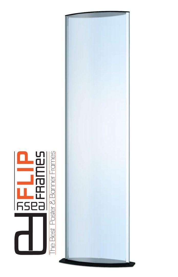 Elliptical Sign Holder Full Height Easy Flip Frames
