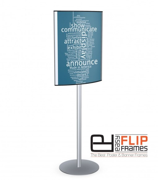Eclipse convex sign holder - Easy Flip Frames