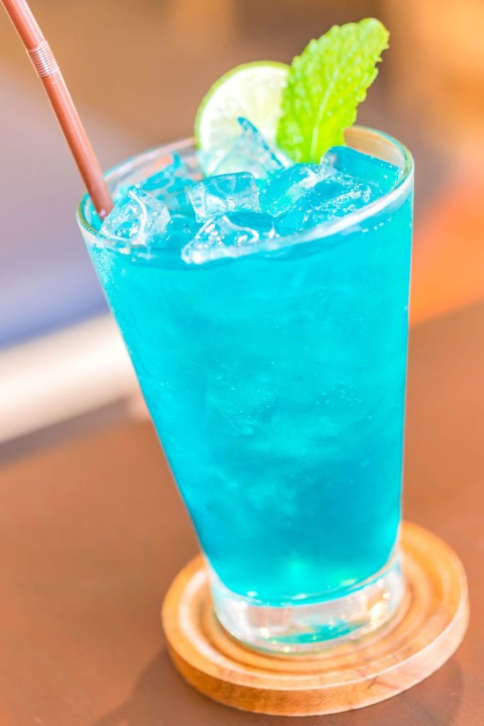 blue motorcycle drink
